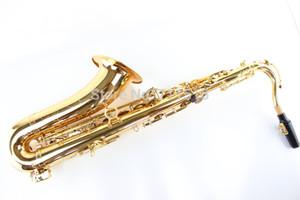 Placcato oro allievi dei bambini Suzuki Bb Tenor Saxophone professionale Sax di alta qualità degli strumenti musicali Sassofono caduta Tune B (C)
