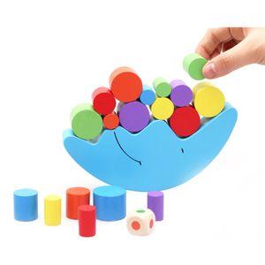 Lune Cadre D'équilibrage Bébé Apprentissage Précoce Jouet Montessori Enseignement Coloré Développement Précoce Bois Blocs Jouets