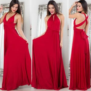 TEMOFON Kadınlar Seksi Bohemain Elbise Bandaj Yaz Parti Multiway Elbise Infinity Nedime Cabrio Wrap Bayanlar ELD734