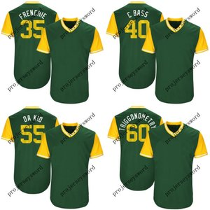 2017 Spieler Weekend Jersey 48 Daniel Gossett Goose 55 Sean Manaea Da Kid 60 Andrew Triggs Triggonometry Baseball-Shirts