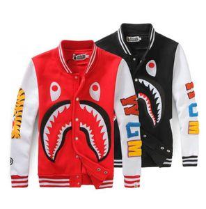 Мужская Бейсбол толстовки печать повседневная пальто акула глава пальто американский стиль мода плюс размер свободные кофты черный скейтборд толстовки