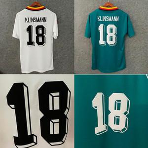 1994 Vintage Deutschland Soccer Jersey 93 94 Magliette da calcio Klinsmann Matthaus Magliette classiche da calcio per adulti di alta qualità