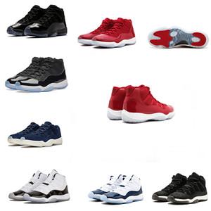 Venta caliente hombre zapatos de baloncesto 11s noche de baile 72-10 criado gamma azul Velvet Heiress Grey Suede zapatilla de deporte baja pascua barones zapatos deportivos