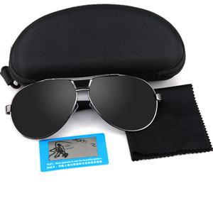 Occhiali da sole da esterno Ciclismo Pesca Occhiali da sole classici da uomo in stile classico Occhiali da sole polarizzati in alluminio con azionamento UV400 Oculos