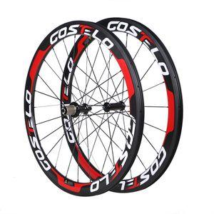 عجلات الكربون كامل الطريق دراجة العجلات 50 ملليمتر عجلات الكربون مع powerway r36 محور 25 ملليمتر-الفاصلة أنبوبي tubuless مجانية