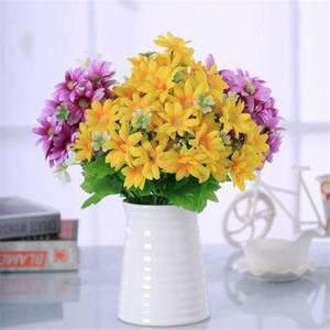 Fake Spring mini Daisy Bunch (5 tallos / pieza) Simulation Chrysanthemum para Wedding Home Decorative Artificial Flowers