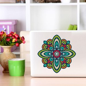 Colorful Mandala Flower Wall Sticker Removable  Art Mural Laptop Decal For Car Computer Mandala Floral Stickers