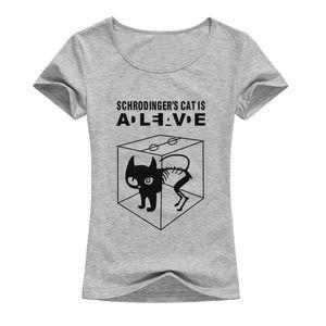 2017 Le Big Bang Theory T-shirt Sheldon Cooper Schrodinger Cat T-shirt Femmes Bande Dessinée Anime Imprimé Chemises Femme A132