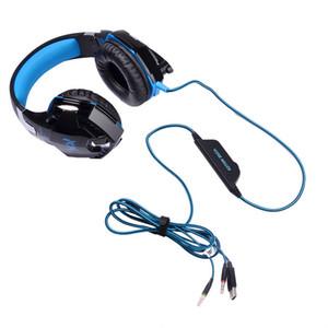 Casque De Jeu Stéréo Annulation De Bruit Casques Studio Bandeau Microphone Écouteurs Avec La Lumière Pour Ordinateur PC Gamer CHAQUE G2000