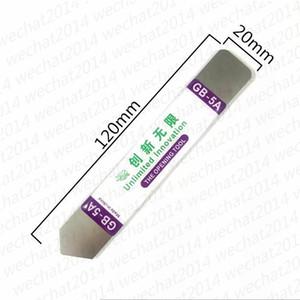 1000PCS GB-5A en acier inoxydable souple mince Pry ouverture outil en métal Crowbar innovation illimitée outil pour mobile à écran tactile boîtier de réparation