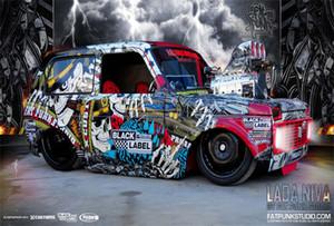 Personnalisé affiche 3D Fond d'écran européen Rétro 3D stéréo voiture Graffiti mural Restaurant Bar KTV Thème mur Peinture Papier peint Rouleau