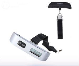 Portable Mini LCD Luggage Electronic Scale Thermometer 50kg Capacity Hanging Digital Weighing Hook Scale Device SN1070