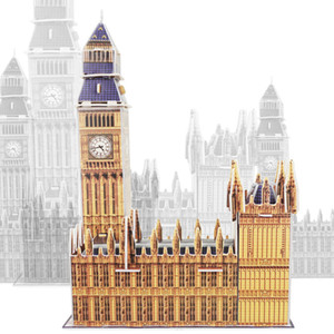 3D Jigsaw Puzzle Gran Muralla, Casa Blanca, Big Ben, Torre inclinada de Pisa, World Architecture, Juguete Educativo Kid Chirstmas Gift