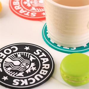 2017 NOVA Mesa de decoração Coasters Copo de Silicone thermo Suporte de Almofada Starbucks sea-maid café Coasters Cup Mat frete grátis