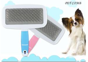 Escova Slicker para Massagem Dog Cat Deshedding Escova Higiene para Yorkie Poodle Cachorro Maltês Cobaia Coelho Remove Suavemente Undercoat Solto
