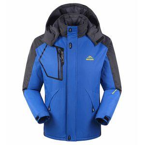 جديد ملابس الشتاء الرجال سترة واقية ستر زائد المخملية مبطن سترة الدفء الصوف أبلى معطف الحجم l-9xl ماء معطف