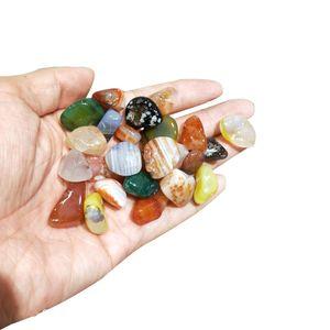 200g Naturel Quartz naturel pierre d'agate minérale Cristal petit galet poli brute de pierres précieuses Décoration rocher ornemental