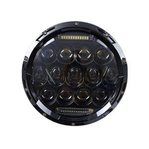 7 Inç Yüksek / Düşük Işın H4 LED Halo Farlar Ile 7 inç Oto Yuvarlak Far Melek Göz DRL Için Jeep Wrangler JK Için TJ CJ Hummer Defender