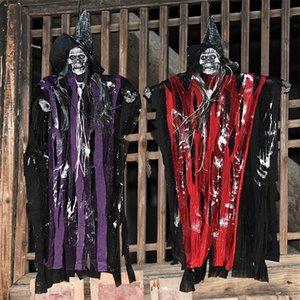 Colgando de Halloween Ghost Inicio Door Bar horror de Halloween Props la casa encantada de escapar Halloween Party Supplies sensor de fantasmas de miedo
