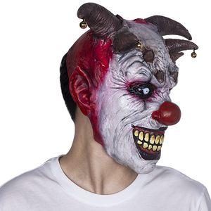 Jouet Jingle Jangle Le Clown Horreur Latex Halloween Effrayant Tête Masque Latex Mal Jester Clown Meilleur Pour Carnaval Cosplay