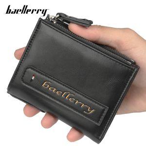 Baellerry Zipper per gli uomini Portafoglio maschio borsa della moneta Walet Breve Partmone Kashelek Portmann Vallet Klachi Money Bag Baellery Kashelki