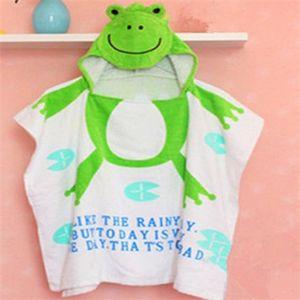 Ev Havlu% 100% Pamuk Bebek Plaj Kıyafeti Çocuk Bornoz Plaj Havlusu Pelerin Pelerin Bebek Karikatür Hayvan Kapşonlu Bebek Banyo Havlusu