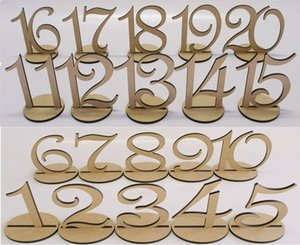 Wooden Table Number 1-20 Wood Wedding Table Numbers with Holder Base for Wedding Party Home Decoration Vintage Birthday Event Banquet Annive