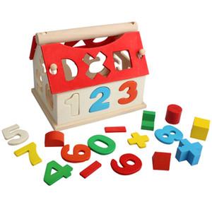 Креативная Деревянная Игрушка Домик Построение Головоломки Числа Многоцветный 3D Модель Дома Строительство Головоломка Игрушка