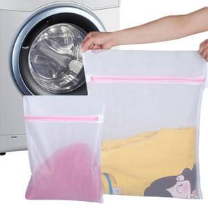 3 Size Zippered Mesh Wash Wash Bags Pieghevoli Delicati Borse Intimo Biancheria intima Intimo Accessori DropShip