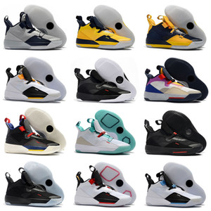 새로운 33 기술 팩 농구 신발 33S 베스트 품질 패션 미래의 비행 Guo Ailun 스포츠 신발 XXXIII 남자 운동화 크기 40-46
