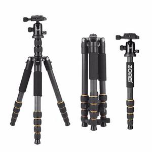 Nuevo trípode ligero de la cámara profesional del viaje Q666C de la cámara de viaje del aluminio / del trípode de la fibra de carbono para la cámara réflex digital SLR