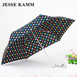 JESSE KAMM 165G Compact três Chuva Dobrável Travele luz Alumínio Vermelho Amarelo Mulheres Homens de alta qualidade barato moda guarda-chuvas