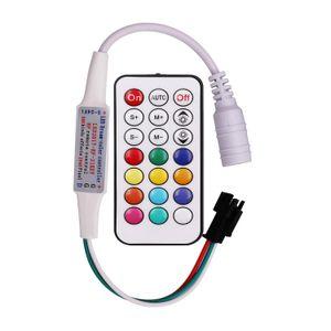 DC 5-24V 21Key البسيطة RF LED تحكم عن بعد ل WS2811 WS2812B SK6812 WS2801 RGB Dearm اللون LED بكسل وحدات ضوء الشريط