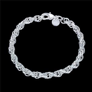 Hot vente Bracelet pop-corn ronde dame bracelet en argent 925 JSPB513!; Les nouvelles femmes fille d'arrivée en argent sterling bracelets de maillon de chaîne plaquée