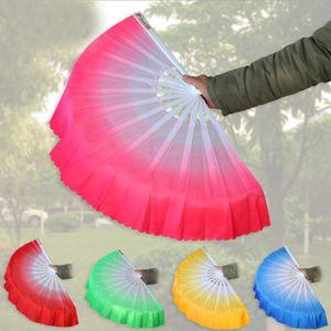Livraison gratuite nouvelle arrivée fan de danse chinoise voile de soie 5 couleurs disponibles pour le cadeau de noce cadeau