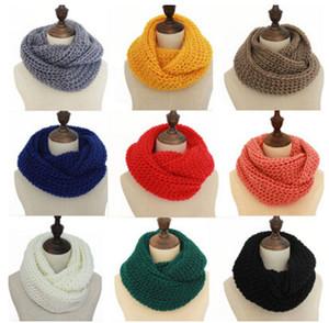 Новая зима женщины Бесконечности шарф повседневная теплый вязание мягкое кольцо шарфы шею Snood шарф шаль для Леди