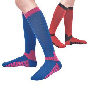 Sınıf II Sıkıştırma Streç Çorap Erkek Kadın Uzun Tüp Naylon Futbol Çorap Nefes Spor Çorap Tenis Futbol Çorap Ticaret Fiyat