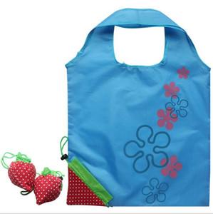Fruits de dessin animé personnalisé sac de shopping personnalisé vert pliant sac de transport forme de fraise sac à provisions