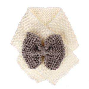 Fashion Children invierno diseñador bufanda de lana más cálido arco nudo bufandas 4 colores bufanda de lujo para opciones modelo no. NE905
