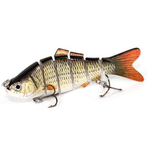 High Quality Fishing Lures Fish Minnow Hard Fake Baits Freshwater Saltwater Multi Parts Fishing Lure Swim Bait Free Shipping