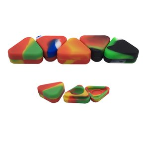 Dab حاوية صغيرة سيليكون 1.5 مل مثلث اللون متنوعة نونستيك الشمع حاوية جرة الغذاء الصف