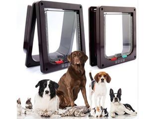 Pet Cat Puppy Dog Supplies Lock Lockable Safe Flap Door 3 Tamaño Blanco Marrón Cat Gates
