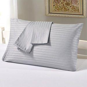 Taie d'oreiller BeddingOutlet Plain Design Literie Qualifiée Coussin en coton Housse de coussin US / UK / RU Standard Size 2 PCS