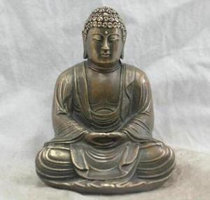 Chinesischer Volkskunst Handmade Messing Bronze Statue Sakyamuni Buddha Skulptur