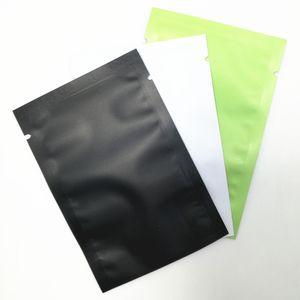 100 Pçs / lote Fosco Brilhante Plana Aberta Top Saco De Folha De Alumínio De Vácuo Saco De Embalagem De Vedação de Calor Saco De Papel Mylar Folha De Vácuo