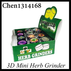 3D mini Muller Herb Grinder Liga de Zinco Triturador De Fumaça Mini Metal Shredder De Tabaco 3 Camadas 30mm Diamter Assorted Cores YW849 0266222-1