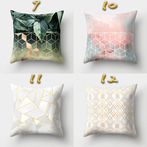 Modern Almofada Praça da tampa 16 Styles Geometria Padrão fronha Home Decor Throw Pillow Caso Factory Direct Venda 4qy BB
