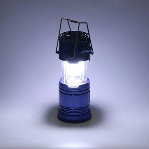 Lanterne de camping Portable Light 6pcs LED extérieur Lampes de poche Stretchable Équipement pour la randonnée Chasse Urgences de pêche à énergie solaire