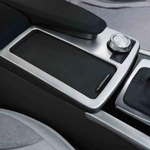 Araba Styling Konsol Dişli Vites Su Bardak Tutucu Paneli Dekorasyon Trim Için Mercedes Benz C E sınıfı W204 W212 Coupe W207 C207 Oto Aksesuarları