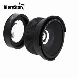 GloryStar 52MM 0.35x Fisheye Super Wide Angle+Macro Lens for Nikon D7100 D5200 D5100 D3100 D90 D60 with 18-55mm Lens